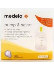 Medela bolsas para conservacion de la leche materna pump & save 20 bolsas