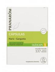 Pranarom quimiotipado oleocaps 1 nariz-garganta + 6 años 30 capsulas