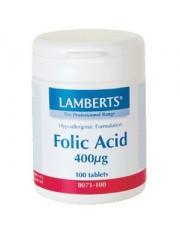 Acido folico 400 mcg 100 tabletas lamberts