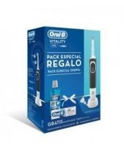 CEPILLO ORAL B ELECTRICO VITALITY NEGRO PACK + REGALO DE COLUTORIO 500 ML+ REGALO PASTA 75 ML