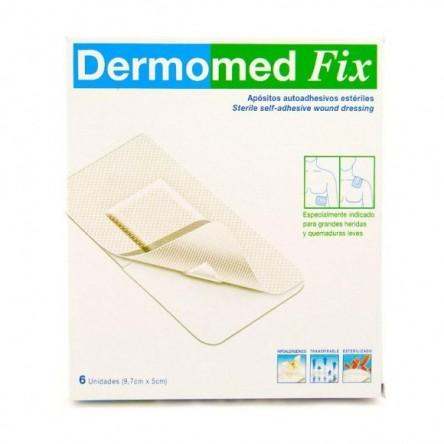 Dermomed tiras adhesivas fix 9 cm x 10 cm 6 apositos