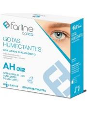 FARLINE OPTICA GOTAS HUMECTANTES AH 0.2% GOTAS OFTALMICAS ESTERILES 0.4 ML 20 MONODOSIS