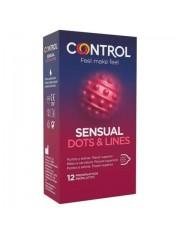 Preservativos control sensual DOTS&LINES 12 unidades