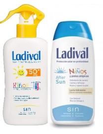 Ladival 50 niños y pieles atópicas. Spray FPS 50 200ml + Ladival Aftersun 200ml Duplo