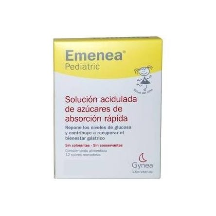 Emenea pediatric sobres monodosis lima-limon 5 ml 12 sobres