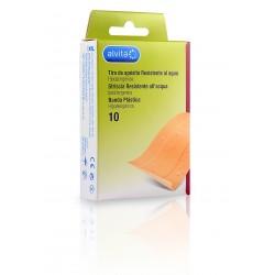 Alvita aposito adhesivo resistente al agua tira 10 x 6 cm 10 unidades