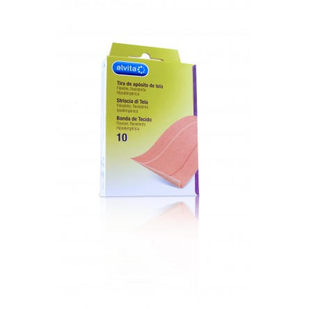 Alvita aposito adhesivo tela 10 x 6 cm