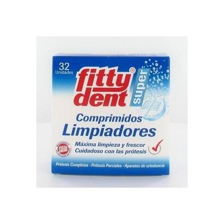 Fittydent limpieza protesis dental 32 comprimidos