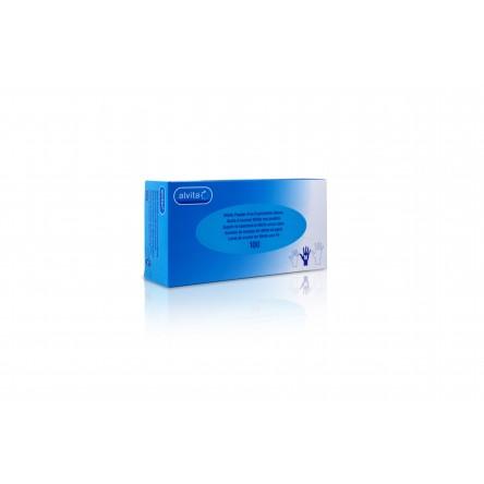 Alvita guantes de nitrilo con polvo t- s 100 guantes