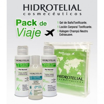 Hidrotelial pack viaje gel 100 ml + locion 100 ml+ champu 50 ml