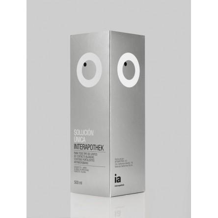 Interapothek lentes de contacto blandas solucion unica 500 ml