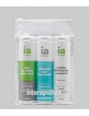 Interapothek neceser viaje higiene gel champu y leche de 100ml
