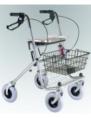 Andador rollator 4 ruedas + freno -asiento ad100