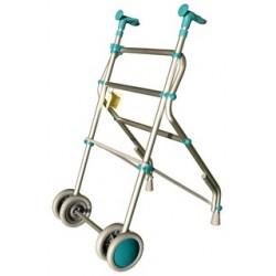 Andador ruedas verde air forta aluminio