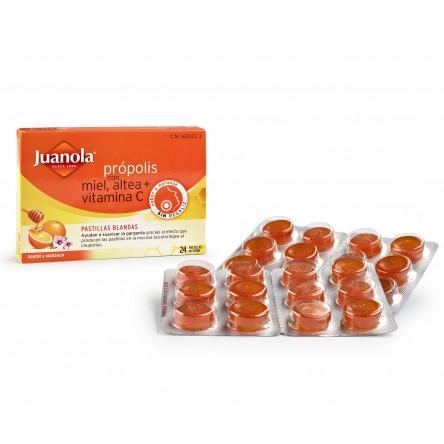 Juanola pastillas blandas propolis miel vitamina c al 24 pastillas