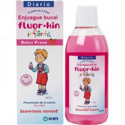 Kin fluor infantil enjuague bucal fresa 500 ml