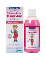 Kin fluor infantil enjuague bucal fresa 500 ml
