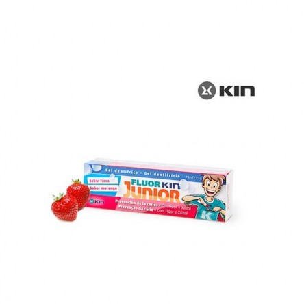 Kin fluor junior gel fresa 75 ml