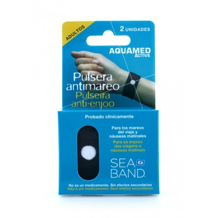Aquamed pulsera antimareo adulto 2 pulseras