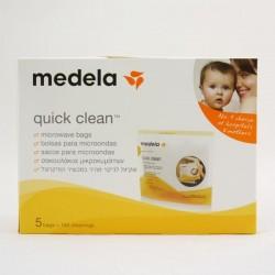 Medela bolsas de esterilizar para microondas reutilizables quick clean 5 unidades
