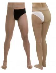 Media larga (a-f) comp normal medilast con sujecion a la cintura unisex beige derecha t- mediana