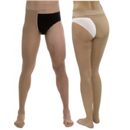 Media larga (a-f) comp normal medilast con sujecion a la cintura unisex beige izquierda t- grande