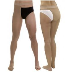Media larga (a-f) comp normal medilast con sujecion a la cintura unisex beige izquierda t- pequeña