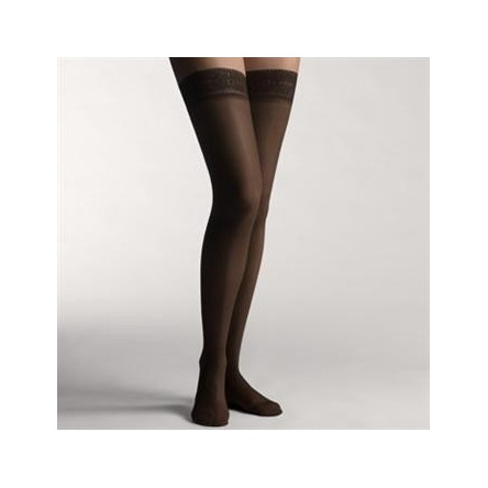2 Medias largas compre ligera farmalastic blonda negra t. g. (tobillo 24-25 cm,pantorrila 37-39) cinfa