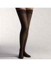 Media larga compre ligera farmalastic blonda negra t. g. (tobillo 24-25 cm,pantorrila 37-39) cinfa 1 par