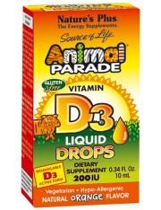 Nature´s plus animal parade vitamina d3 gotas 10 ml