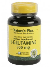 Nature´s plus l-glutamina 500 mg rotura y recuperacion muscular 60 capsulas