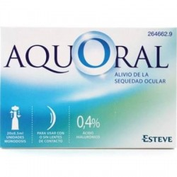 Aquoral gotas oftalmicas 0,5ml 20 unidades