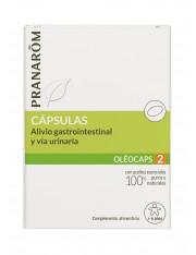 Pranarom quimiotipado oleocaps 2 alivio gastrointestinal y vias urinarias + 6 años 30 capsulas