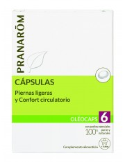 Pranarom quimiotipado oleocaps 6 piernas ligeras y confor circulatorio + 6 años 30 capsulas