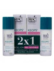 Roc keops desodorante piel sensible roll-on 30 ml 2 unidades duplo