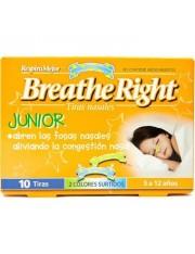 Tiras nasales breathe right junior 10 unidades