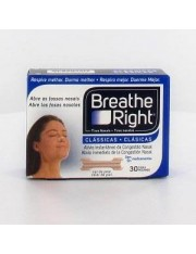 Tiras nasales breathe right s-m 30 unidades