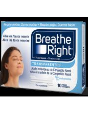Tiras nasales breathe right transparente talla grande 10 unidades