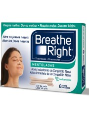 Tiras nasales breathe right vapores balsamicos grande 8 unidades