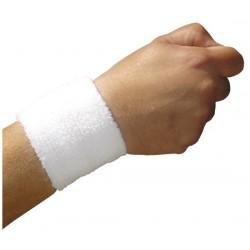 Muñequera medilast velcro blanca-azul-blanca t-mediana (muñeca 17-20 cm)