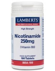 Nicotinamida 250mg (vitaminas b3) 100 tabletas lamberts