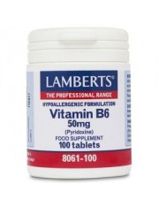 Vitamina b6 50mg (pirodoxina) 100 tabletas lamberts