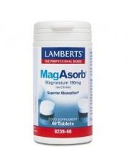 Magasorb (magnesio 150 mg como citrato) 60 tabletas(minerales) lamberts