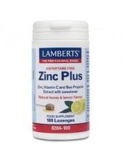 Zinc plus lozenges 100 loz pastillas masticables (minerales) lamberts