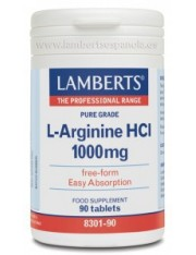 L-arginina hci 1000mg 90 tabletas (aminoacidos) lamberts