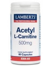 Acetil-carmitina 500 mg 60 capsulas (aminoacidos) lamberts