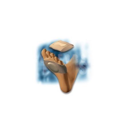Banda pie abierto elastica con almohadilla de silicona talla s comforsil cc-229