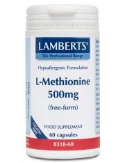 L-metionina 500 mg 60 capsulas (aminoacidos) lamberts