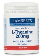 L-teanina 200 mg 60 tabletas (aminoacidos) lamberts