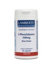 L-fenilalanina 500 mg 60 capsulas (aminoacidos) lamberts
